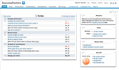 SuccessFactors Home Page